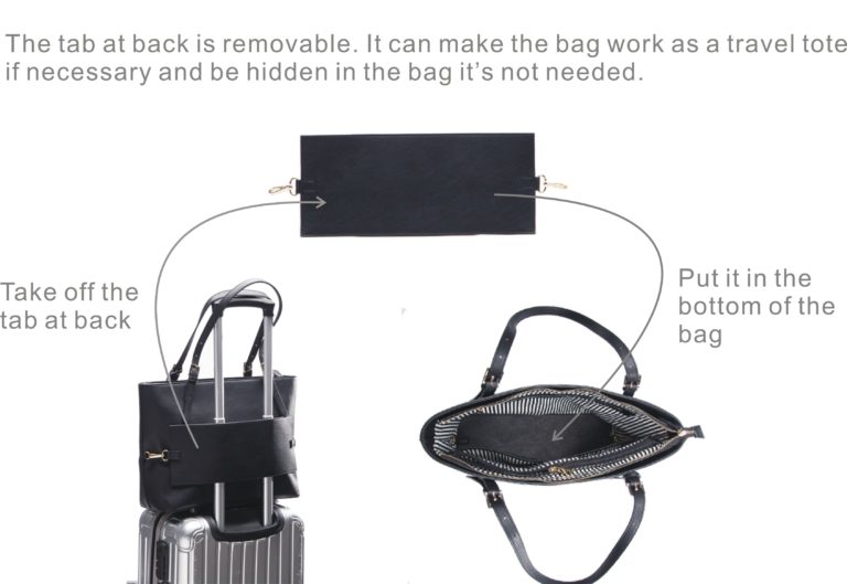 miss fong women tote bag travel tote bag-black