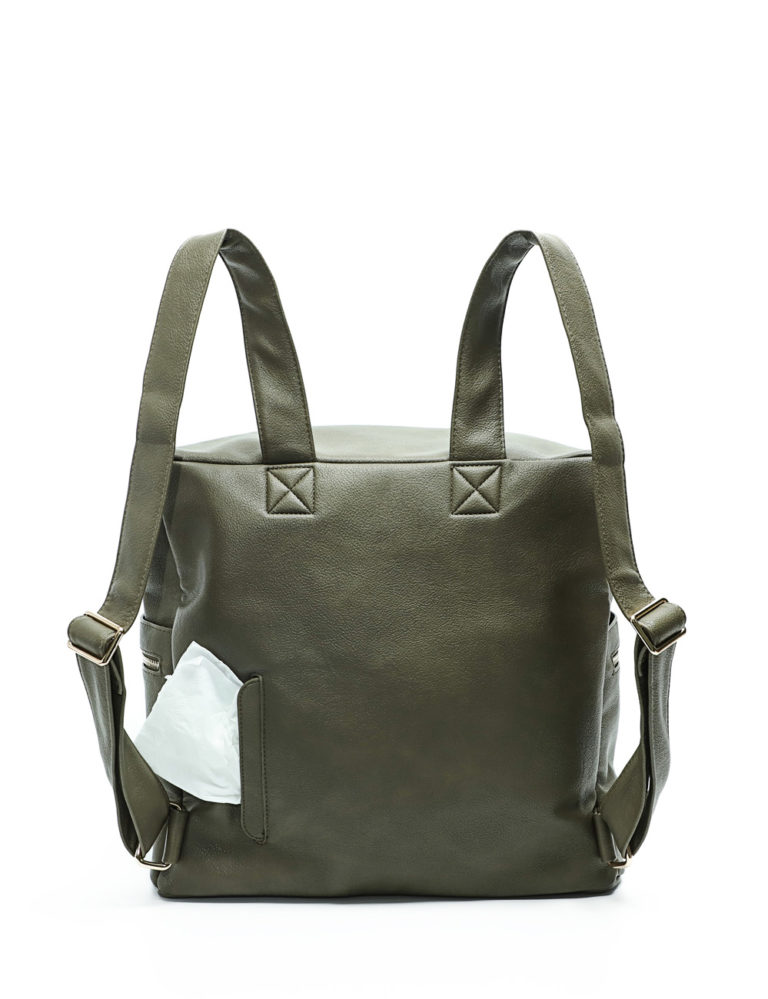 miss fong diaper bag olive-wiipes pouch
