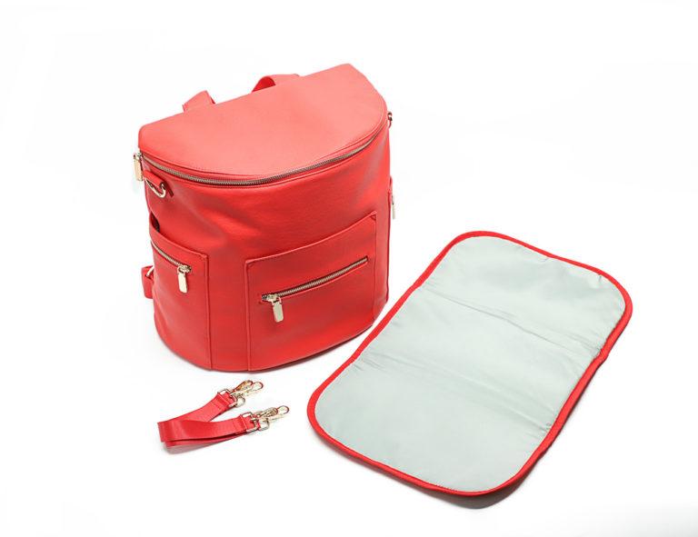 miss fong diaper bag red-changing mat
