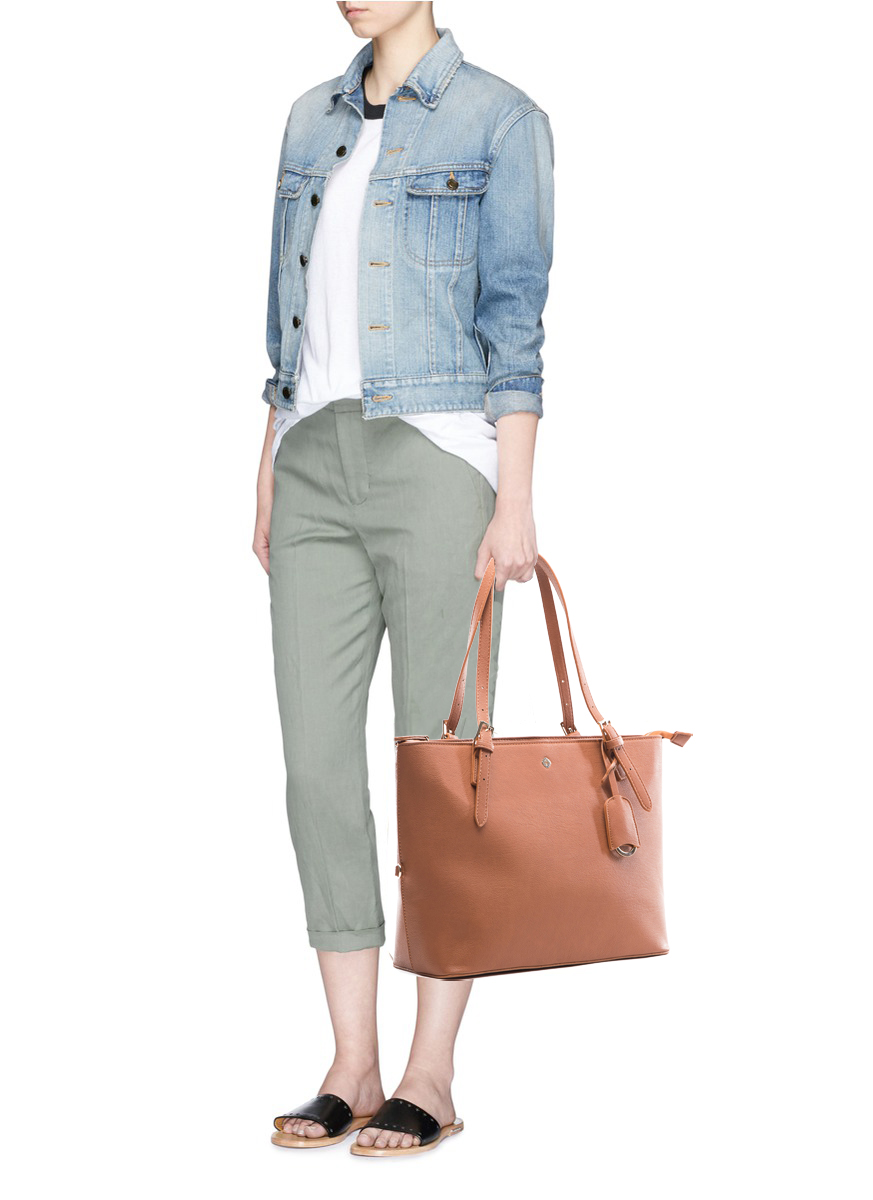 miss fong tote bag for women-brown