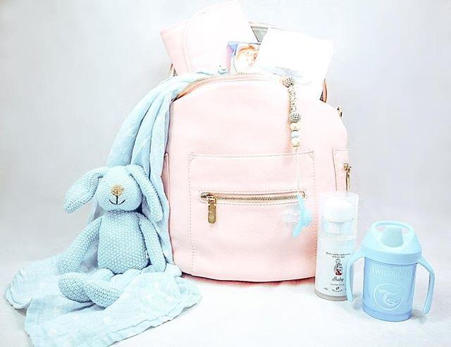 nappy bag blush pink