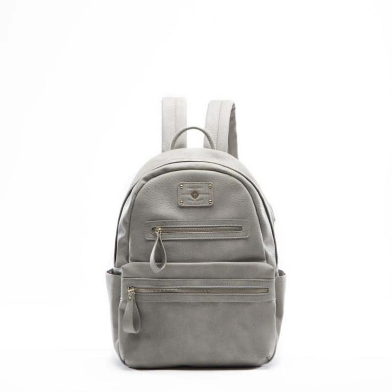 women backpack with USB charger(Grey)