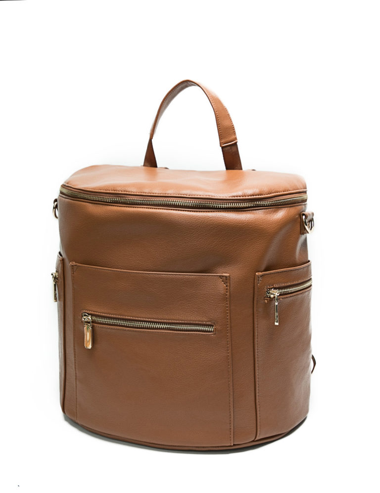 leather baby bag with handle