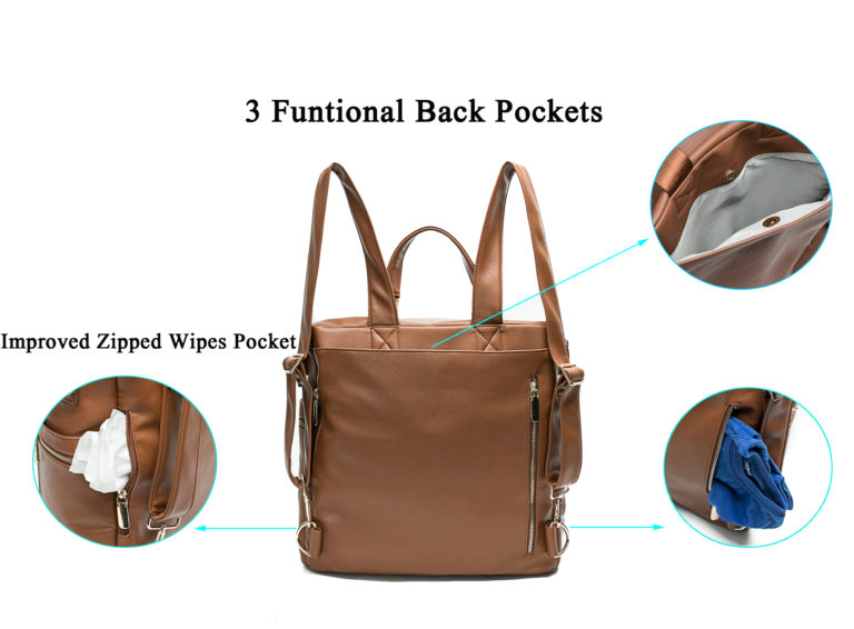 baby bag with pockets