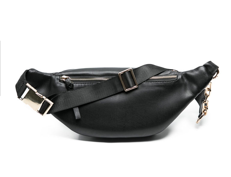 leather fanny pack with back pocket