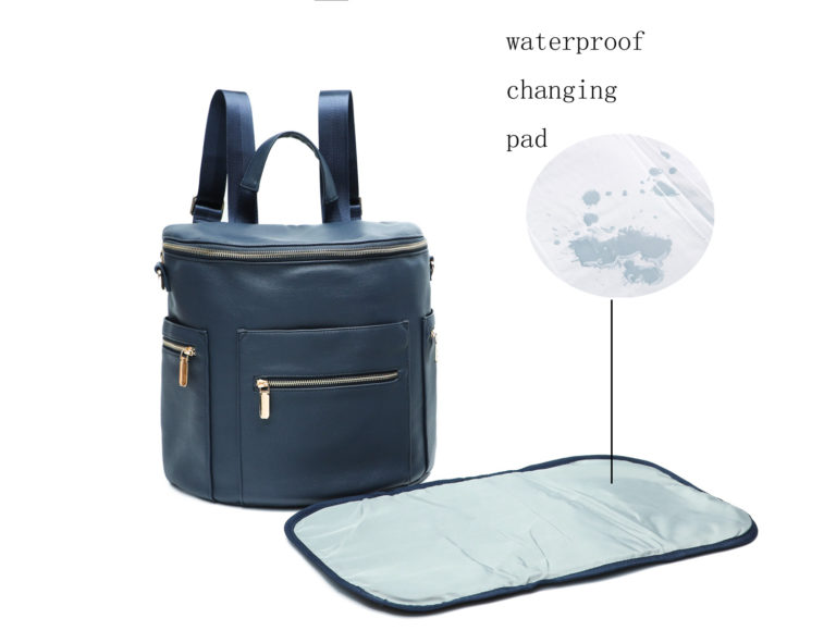waterproof changing station by Leather Diaper Bag