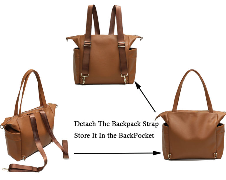 Detachable strap and back pocket