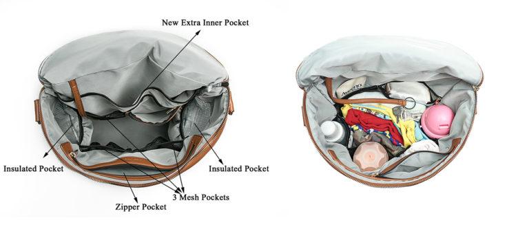 diaper bag in bag organizer-Brown