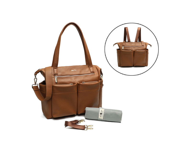 diaper bag in high quality of PU leather