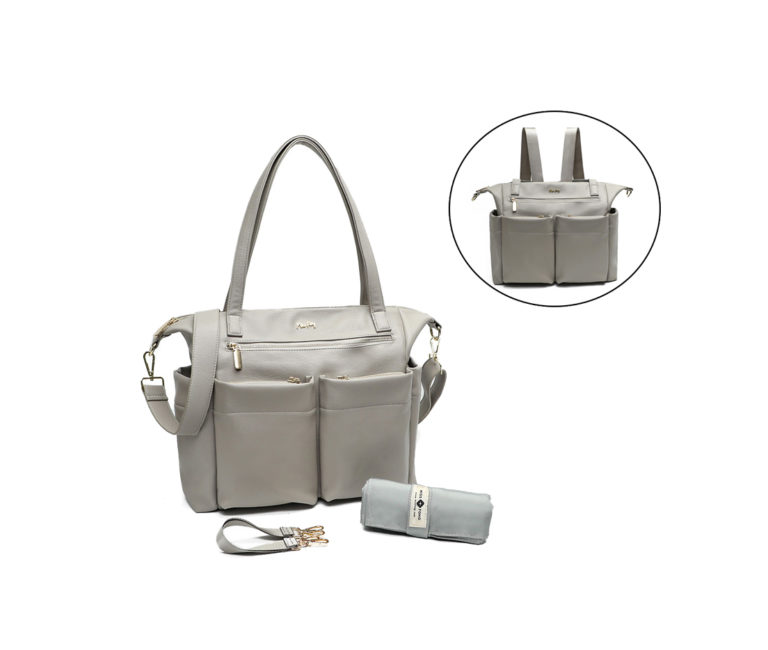 the fashionable and stylish purse diaper bag(Grey)