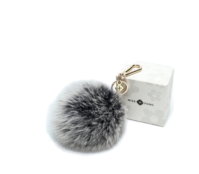 Miss Fong Pompom keychain( Grey-Large)