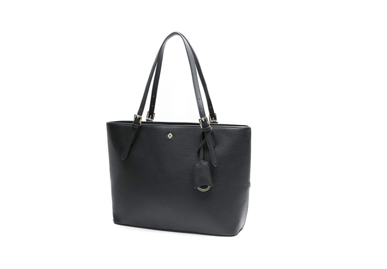 tote bag with a detachable tab