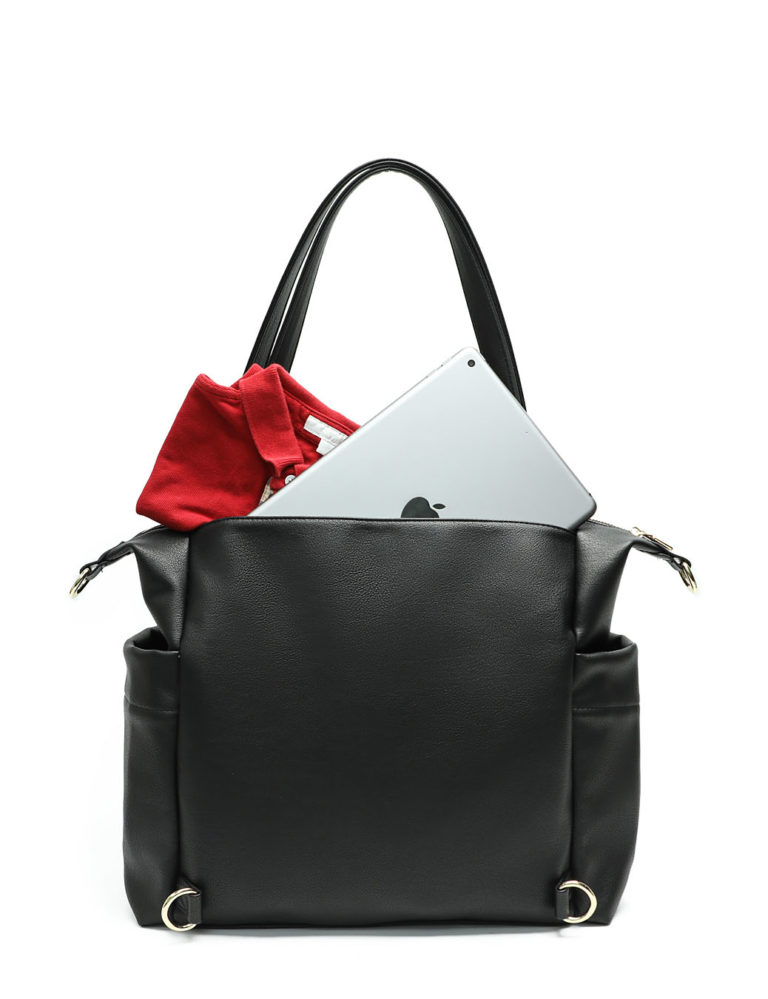 Diaper Tote Bag with Back Pocket