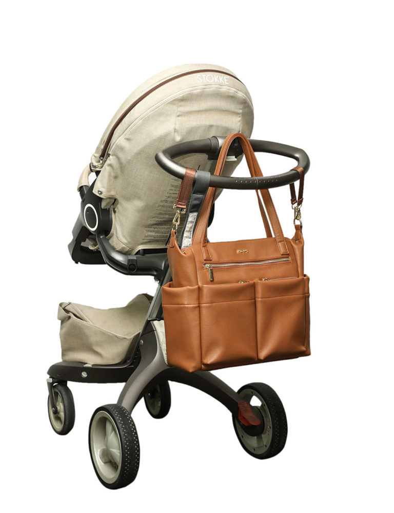 diaper tote bag with stroller straps