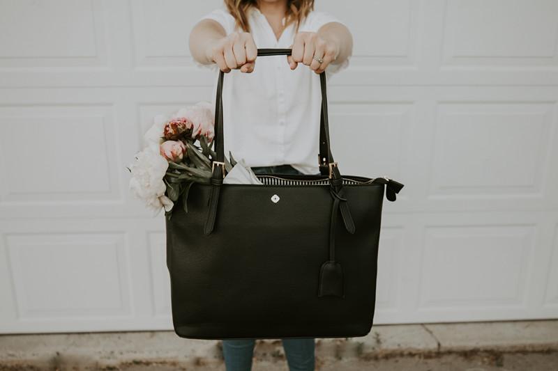 Tote Bag for Women (Black) , RFID Shoulder Bag for women