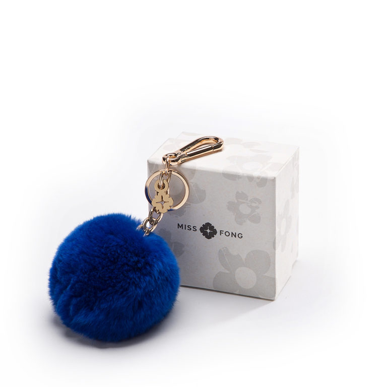 Good quality and premium material by Miss Fong Pompom keychain