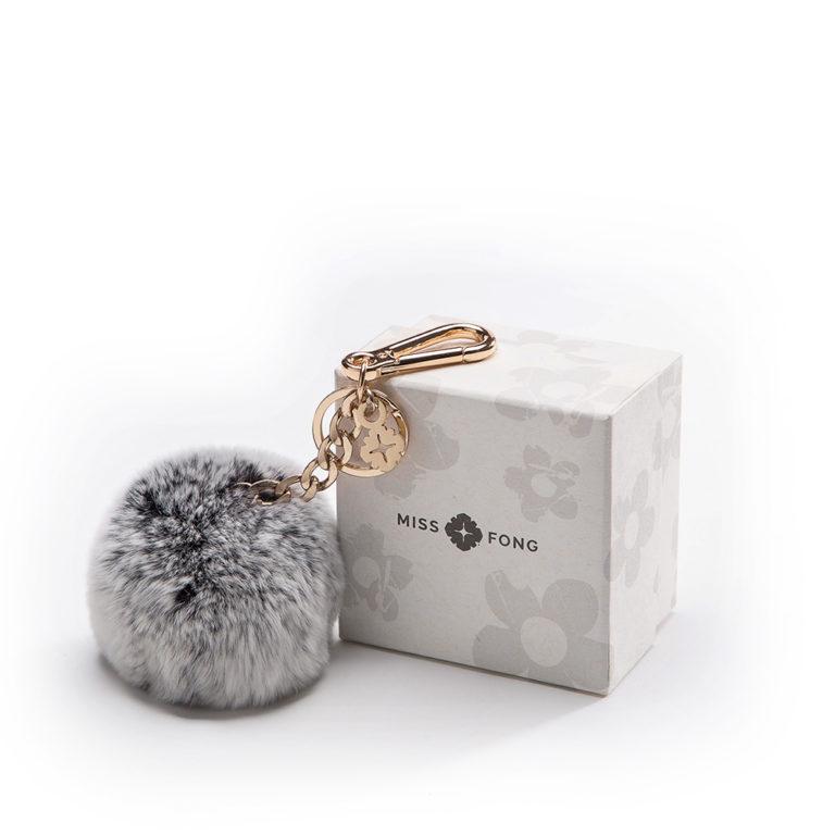 Miss Fong Pompom keychain(Grey)