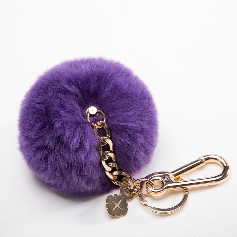 Miss Fong Pompom keychain( Purple)