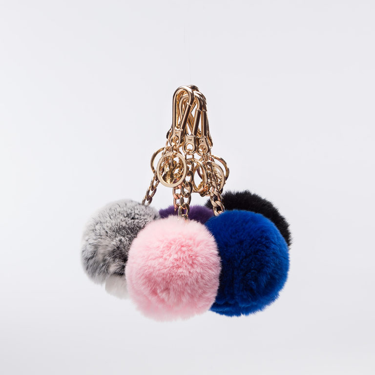 Fluffy keyrings Pink