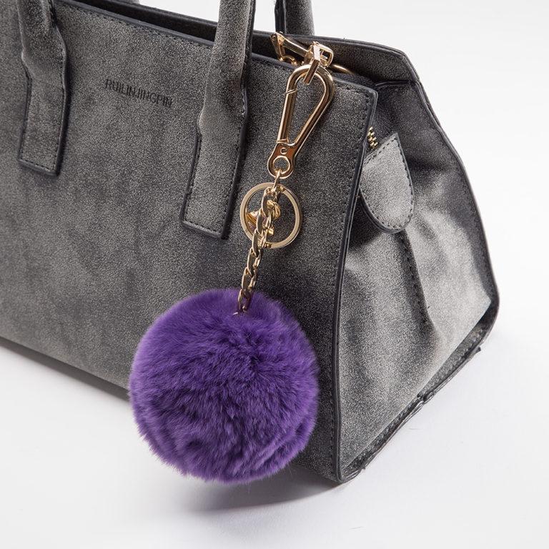 Miss Fong Handbag Charm Purple