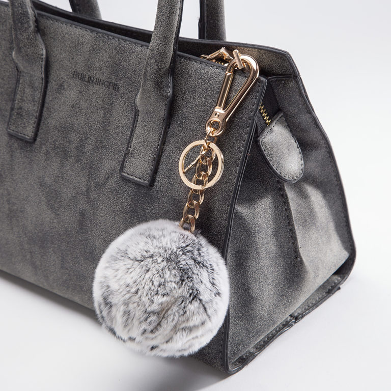 Miss Fong Handbag Charm Grey