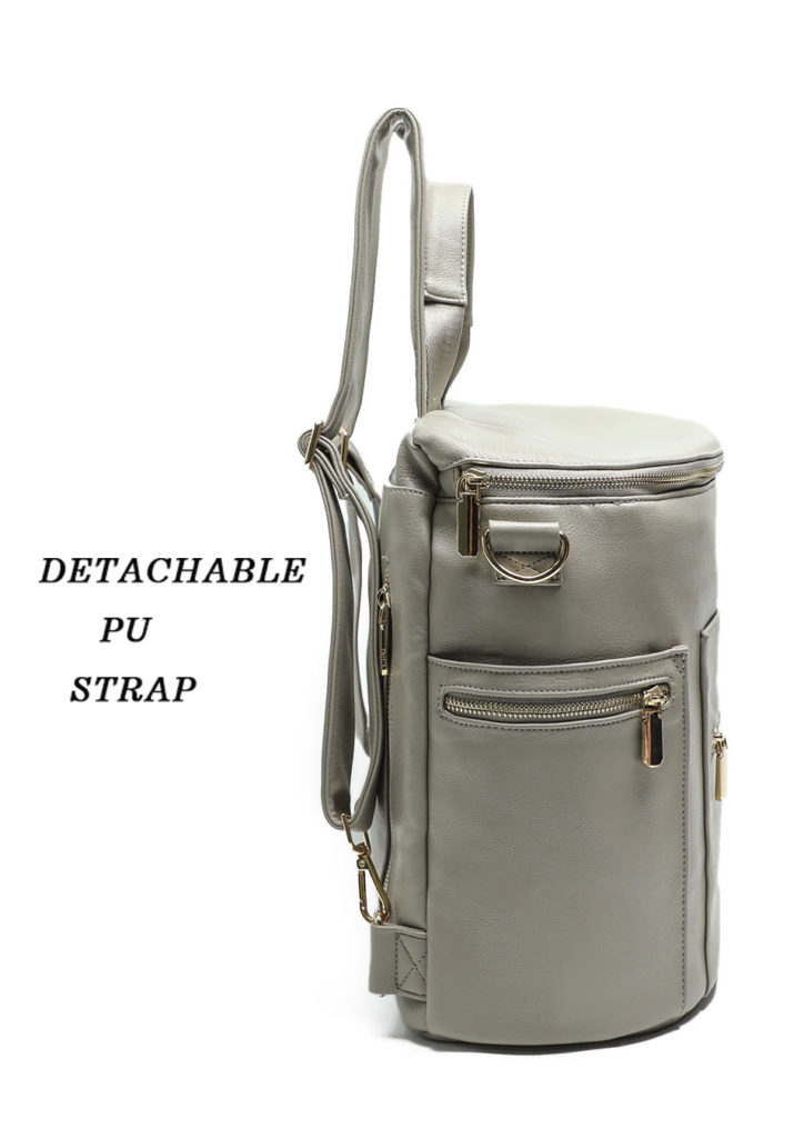 Leather Diaper Bag wtih detachable strap