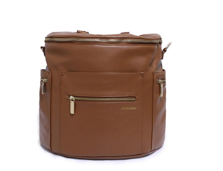 leahter diaper bag backpack