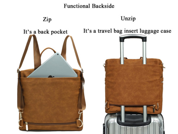 backpack with ziper pocket