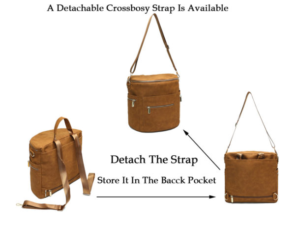crossbody diaper bag brown