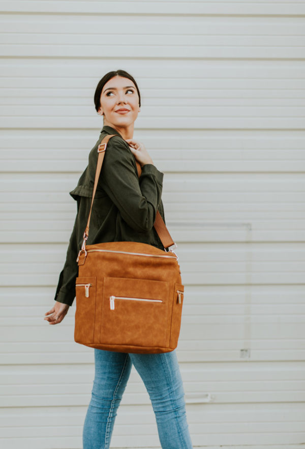 nappy bag leather