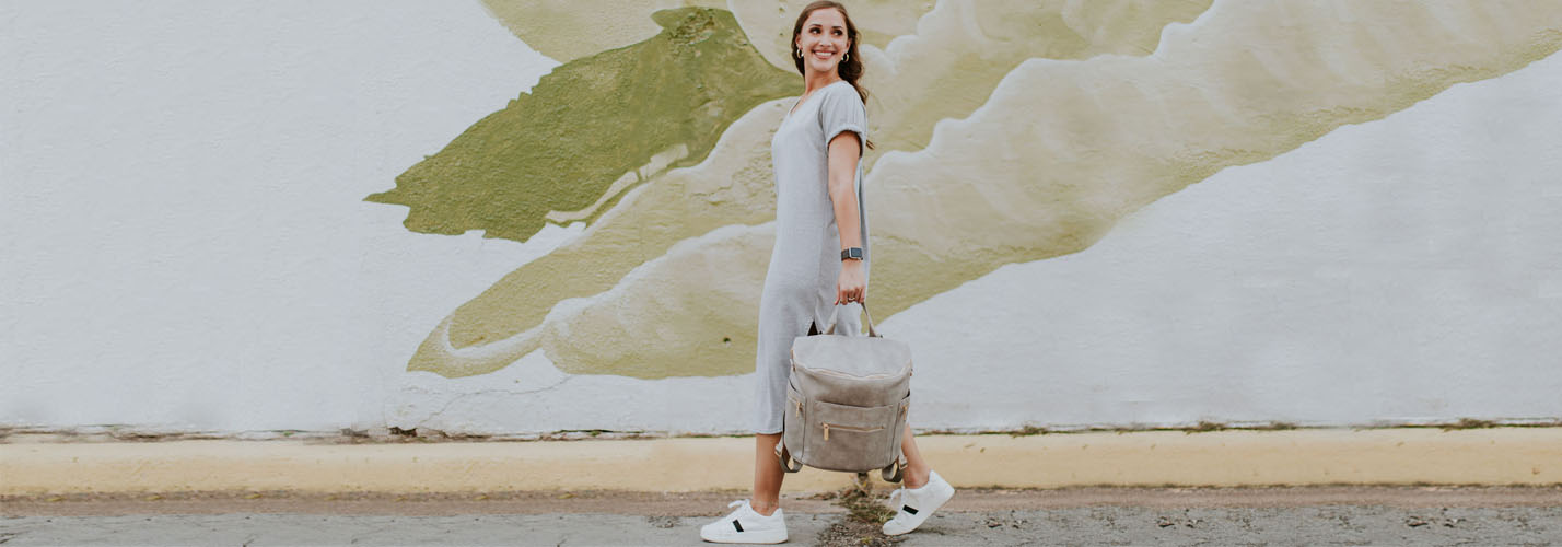 diaper bag rusty grey by miss fong