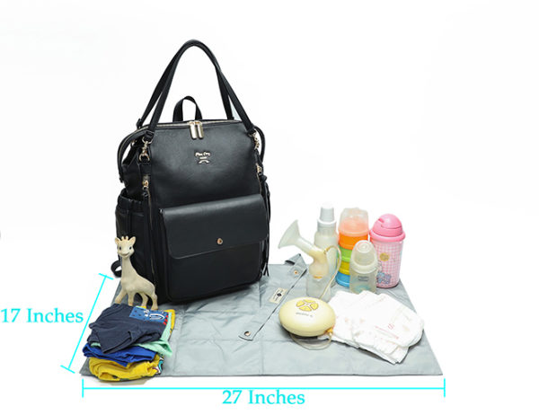 diaper bag with changing pad love and peace