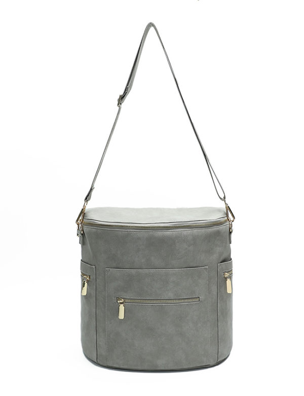 crossbody bag diaper bag rusty grey