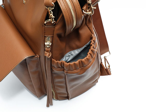 fashionable diaper bag purse brown