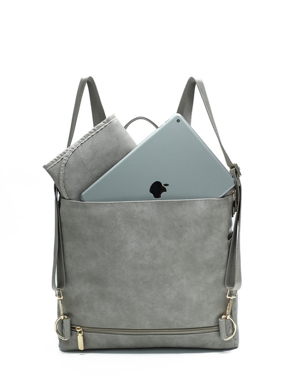 fashionablea diaper bag purse rusty grey