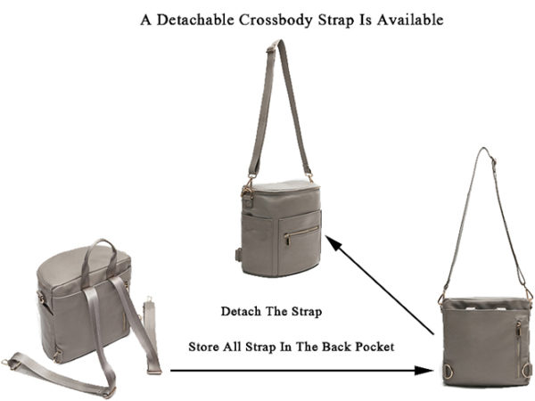 detachable crossbody strap of miss fong grey mini