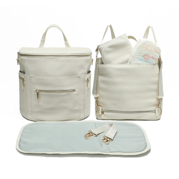 miss fong leather diaper bag backpack