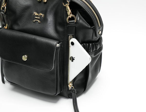 miss fong backpack with zipper pockets