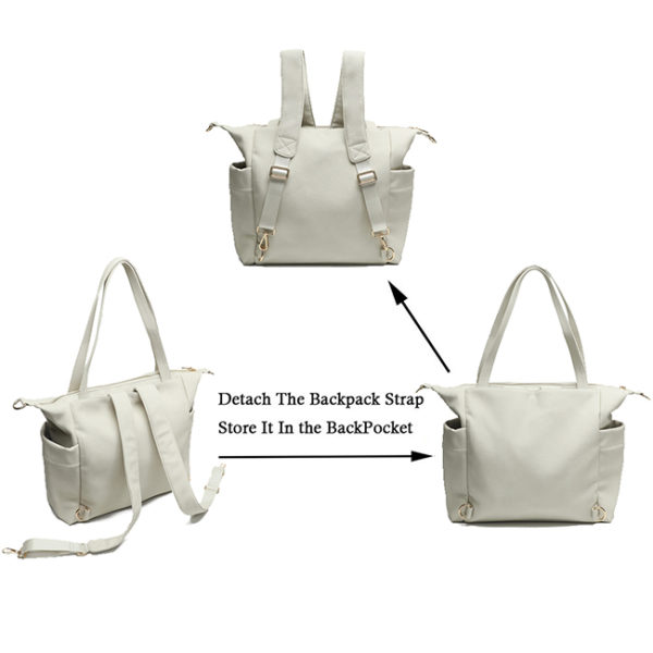 diaper bag tote with 3 ways of use
