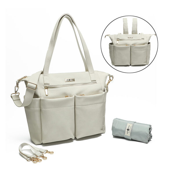 miss fong leather diaper bag tote off white
