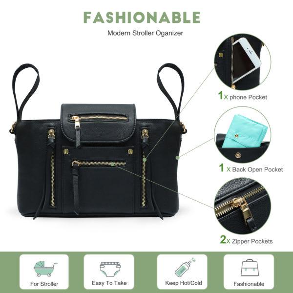 fashionable Stroller Oganizer-black