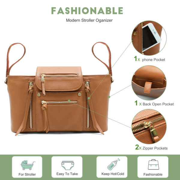 fashionable Stroller Oganizer-brown