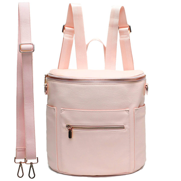 mini diaper bag by miss fong for kids-Pink Rose