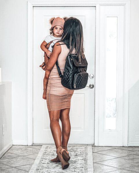 eather Diaper Bag by miss fong(Diamond Black)