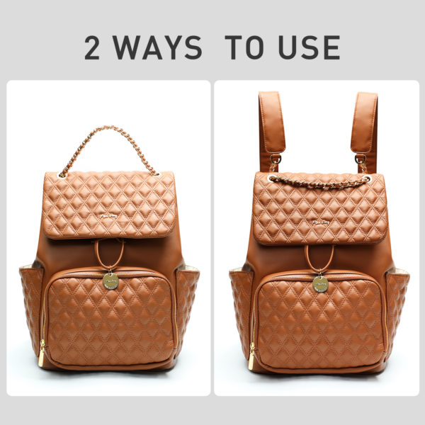 ways to use by miss fong diaper bag(Diamond Brown)