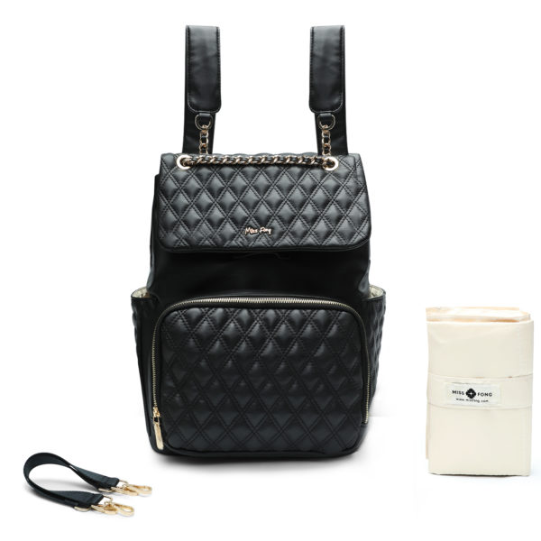 Leather Diaper-Bag-by-miss-fong(Diamond-Black)