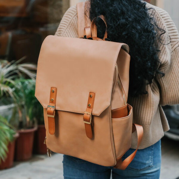 Leather Diaper Bag by miss fong