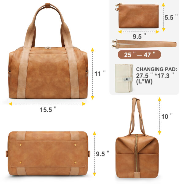 Multifunction leather diaper bag by miss fong