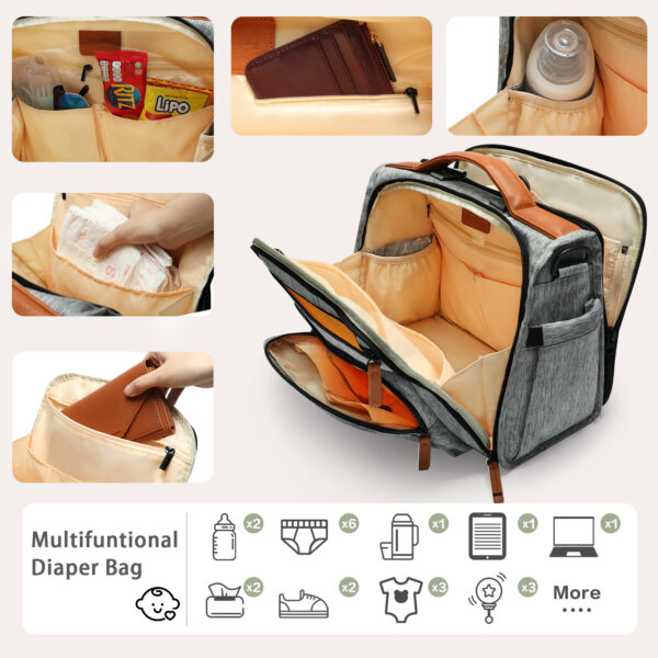 Multifunction diaper bag by miss fong